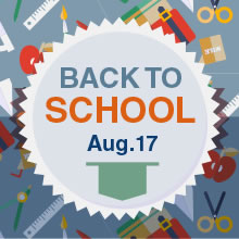 Back to School, Thursday, Aug. 17, 2017