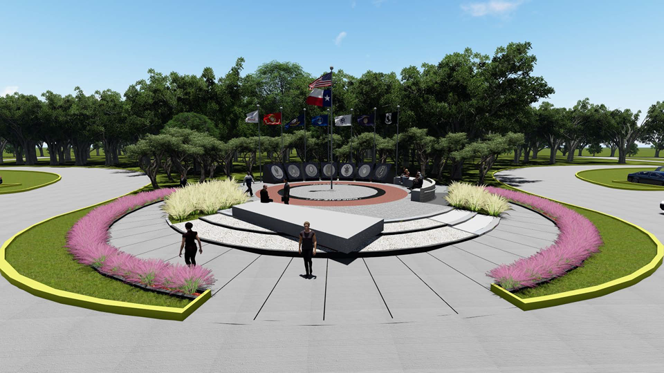 IDG Architects' rendering of the Spring ISD Veterans Memorial