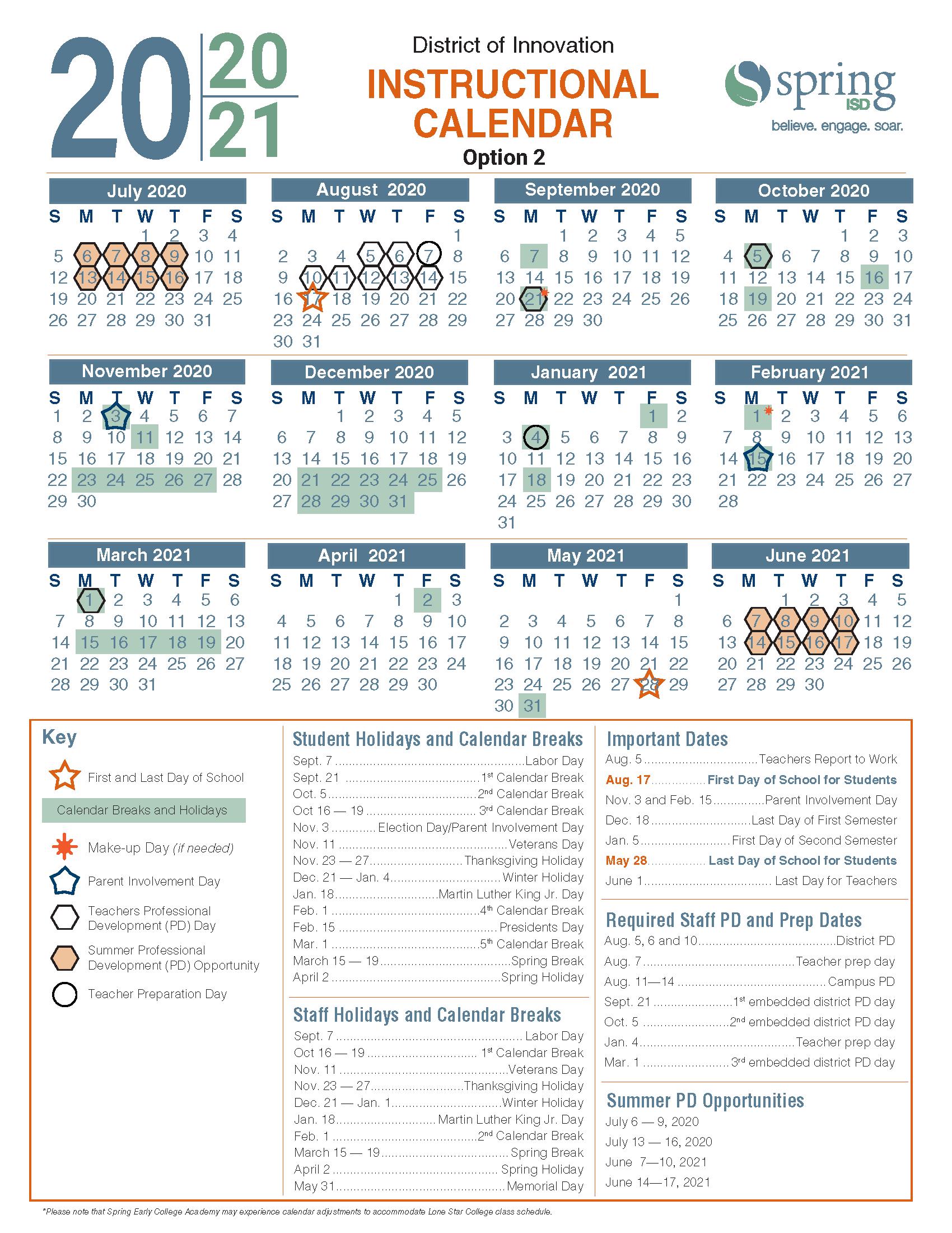 Spring 2021 Calendar Calendar Survey / 2020 21 Instructional Calendar / Calendario de