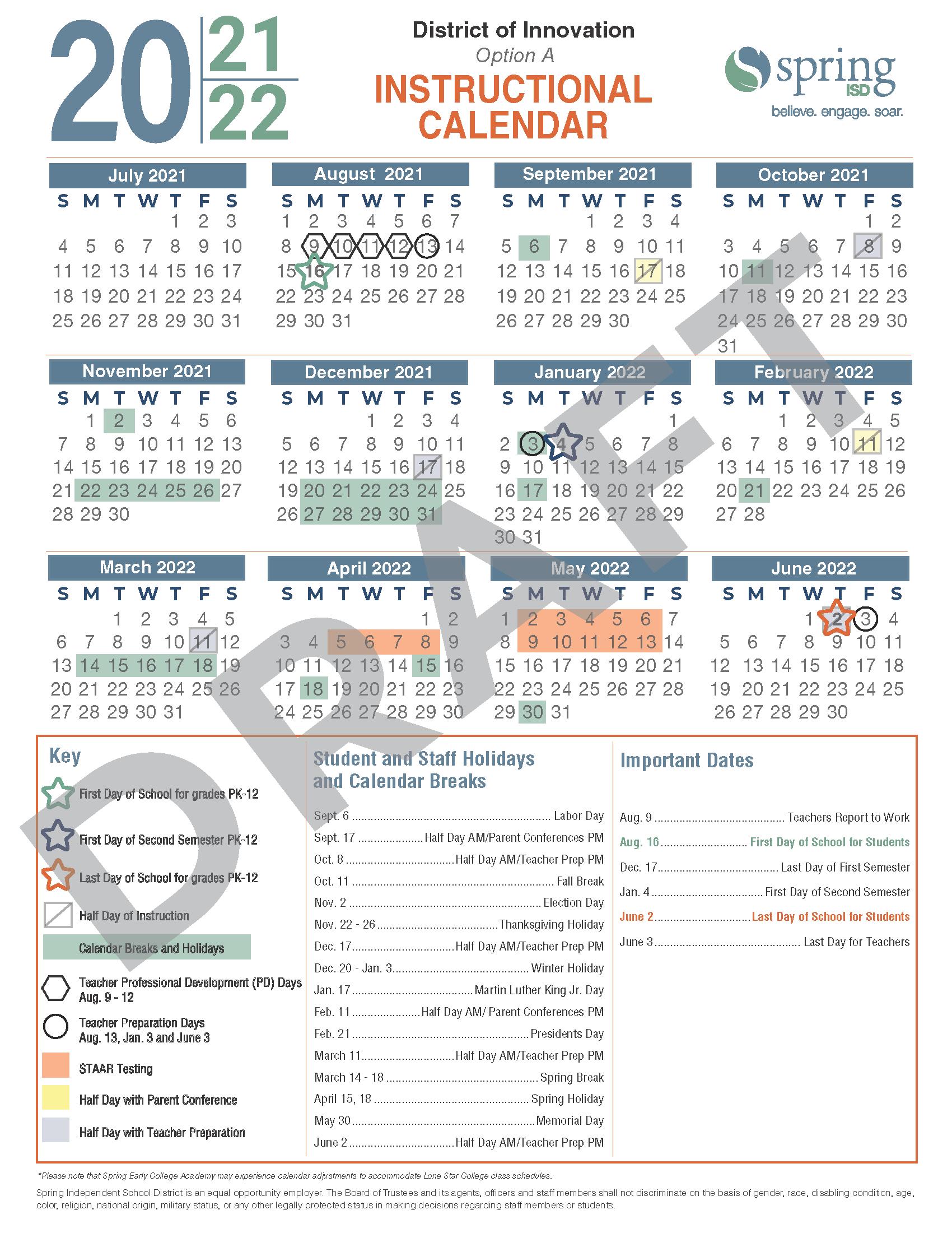 Calendar Survey / 2021 22 Instructional Calendar Survey / Encuesta