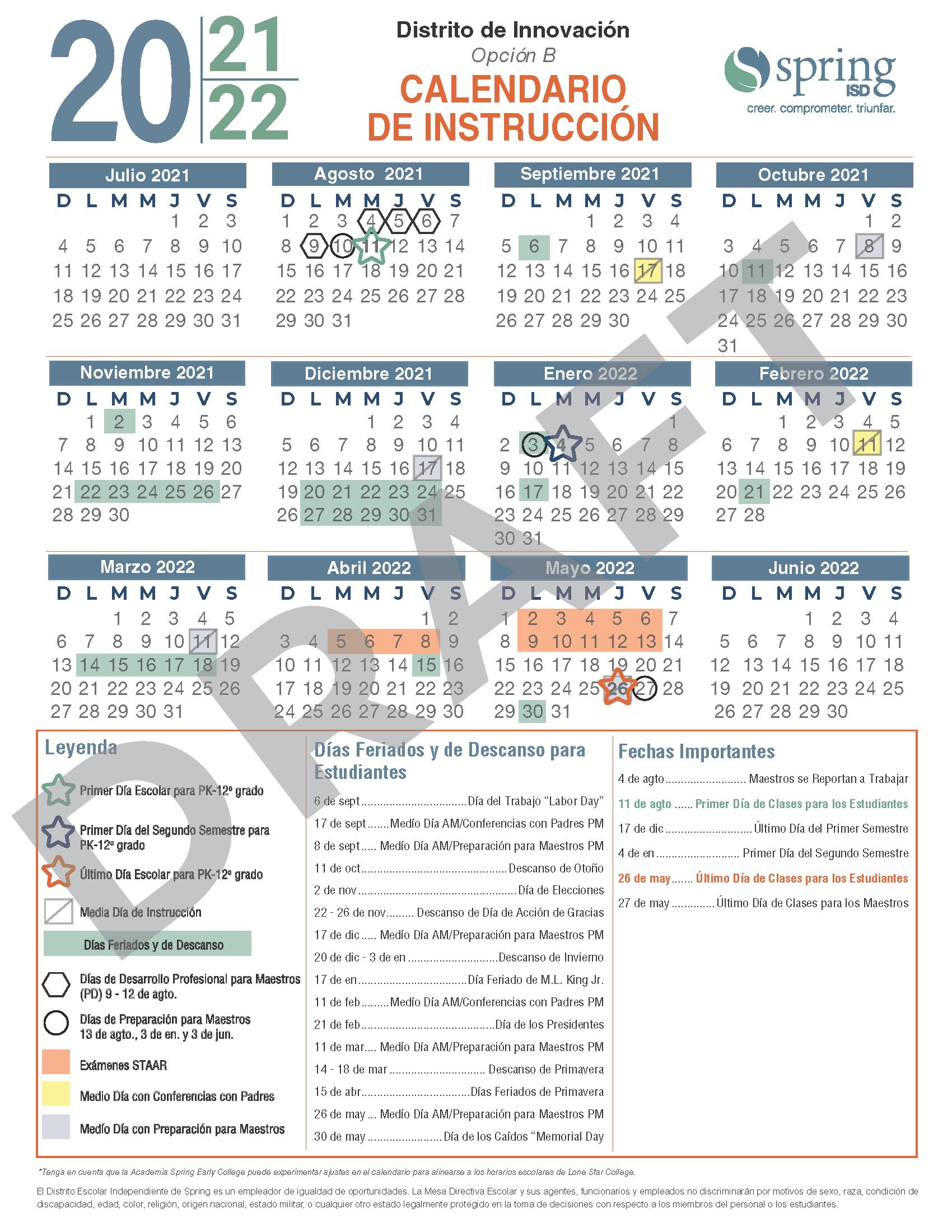 Hisd 2022 Calendar.Calendar Survey 2021 22 Instructional Calendar Survey Encuesta Sobre El Calendario De Instruccio