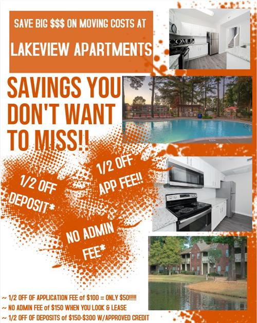 Lakeview Apt Discounts