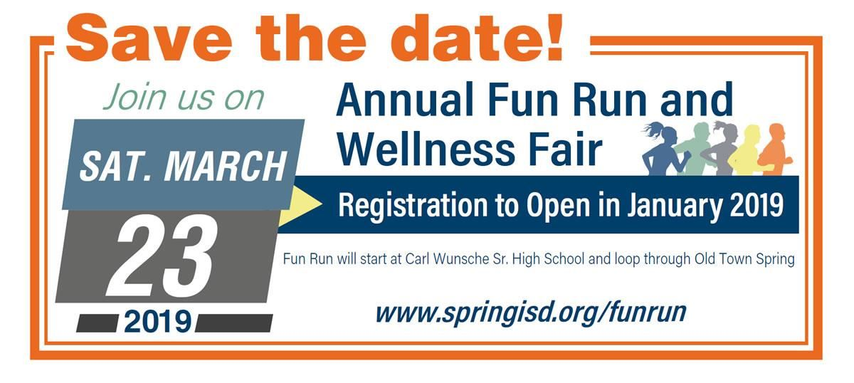 Join us on Sat. March 23, 2019 for our annual Fun Run and Wellness Fair