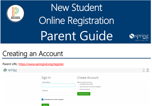 New Student Online Registration Parent Guide