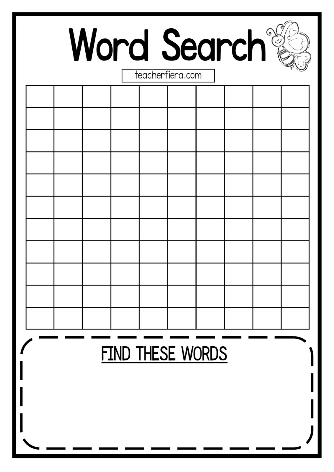 Comprehensive image throughout blank word search printable