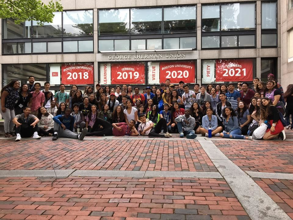 Four rising Dekaney seniors are among a contingent of students on the EMERGE Summer College Tour visiting Boston University