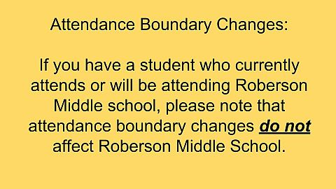 Attendance Boundary Changes