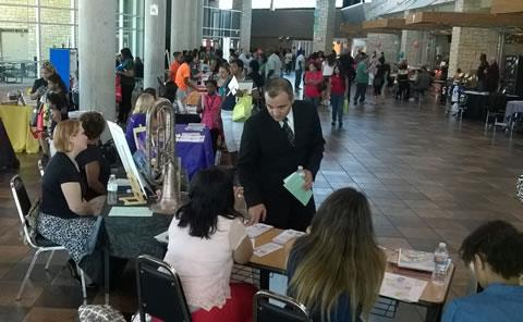 Along with school registration, new Spring ISD families find a range of helpful information during Spring ISD's New Student Registration and Family Resource Expo