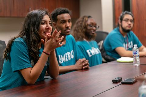Spring ISD EMERGE Fellows discuss how the EMERGE program has offered them a supportive community to help them reach their goals