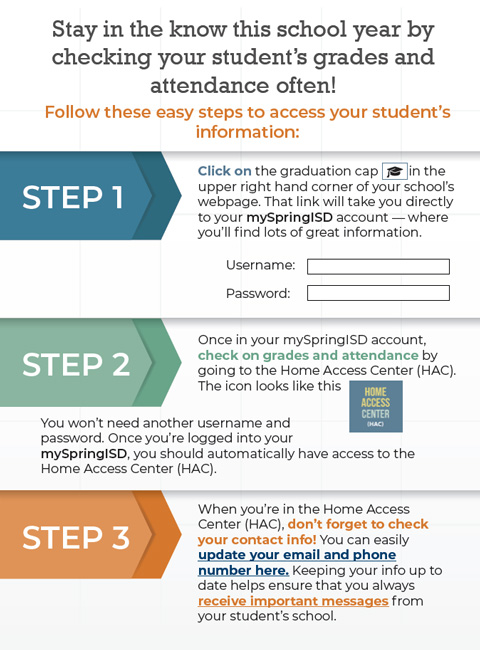 Follow these easy steps to access your student's information