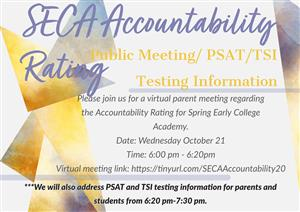 SECA Accountability Rating Flyer