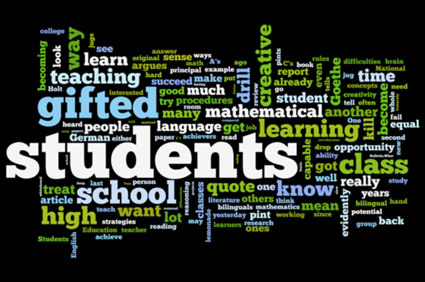gifted students research papers Gifted and talented education research paper it is important to understand the many different methods of educating gifted and talented students most people, whether as teachers, students, or parents, will at some point be faced with the many options of educating the gifted and talented.