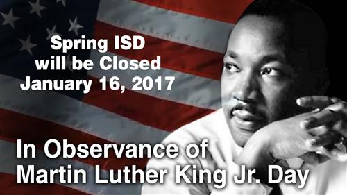 Spring ISD closed Jan. 16, 2017