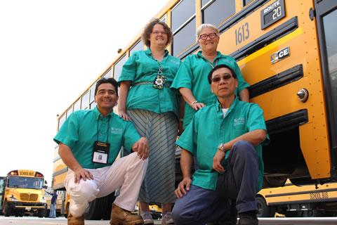 Four Spring ISD Bus Drivers Advance in Annual District School Bus Safety Road-E-O