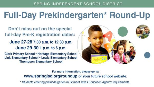 Full-Day Prekindergarten Round-Up